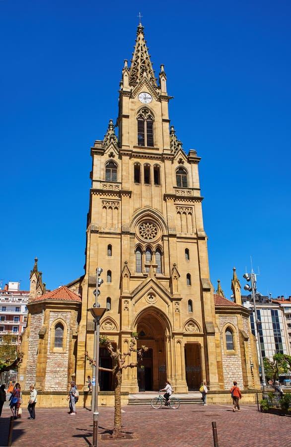 San Ignacio kościół w San Sebastian Hiszpania obraz stock