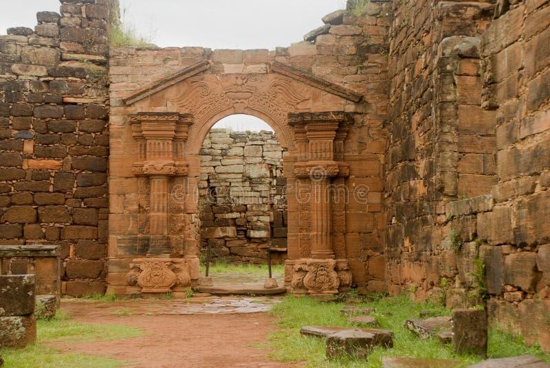 San Ignacio Mini ruiny zdjęcia stock