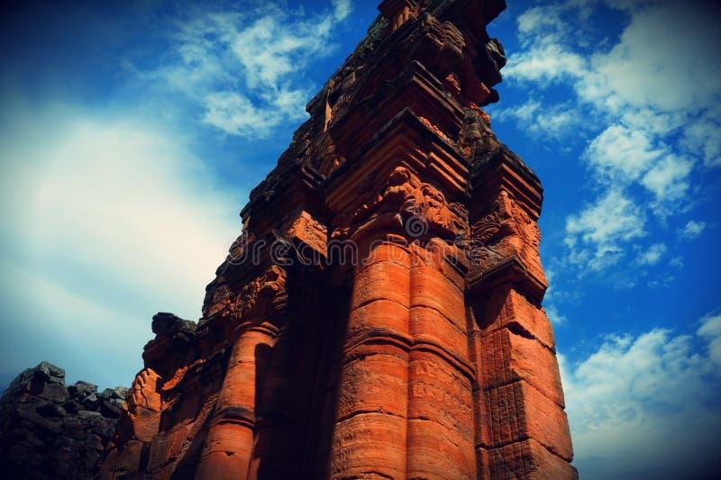San Ignacio ruiny, Misiones, Argentyna obraz stock