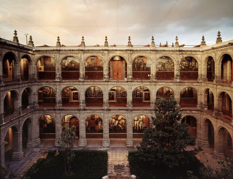 San Ildefonso museum royaltyfria bilder