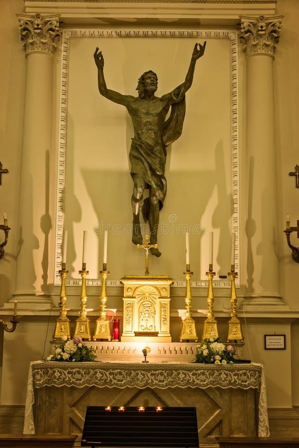 San interior Marino Basilica fotos de archivo
