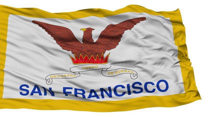 San isolato Francisco City Flag, Stati Uniti d'America royalty illustrazione gratis
