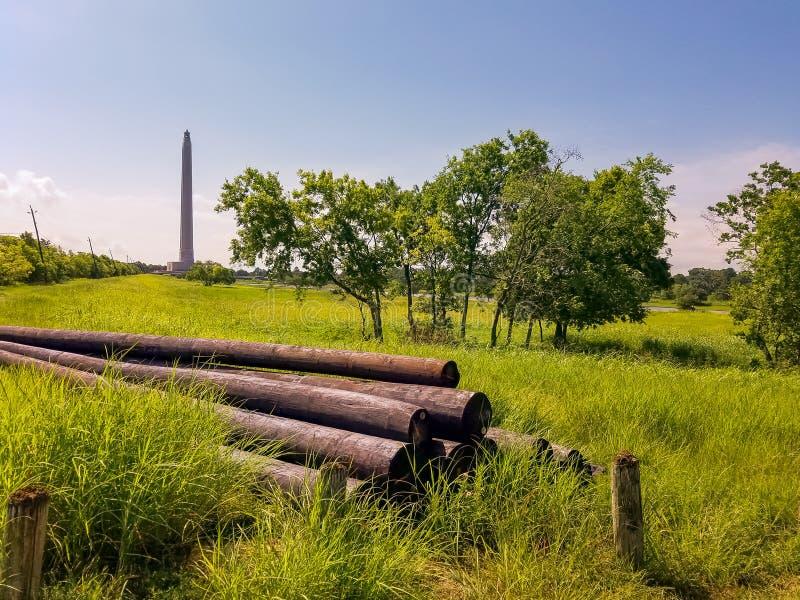 SAN Jacinto Memorial Monument Χιούστον Τέξας στοκ εικόνα με δικαίωμα ελεύθερης χρήσης