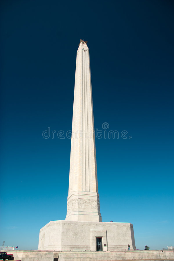 San Jacinto Mounument em Houston, Texas fotografia de stock royalty free