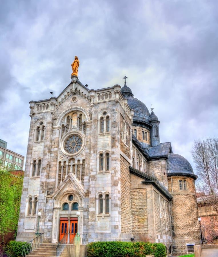 San Jacques Parish Church a Montreal, Canada fotografie stock libere da diritti