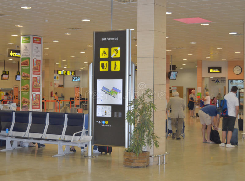 Arrivals Board At Alicante Airport Editorial Photography