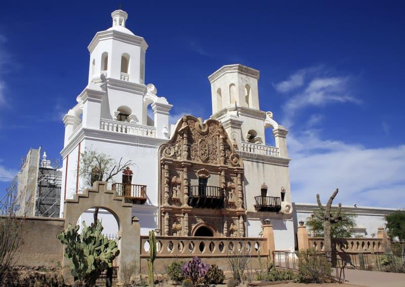 San Javier del Bac Mission de Arizona imágenes de archivo libres de regalías