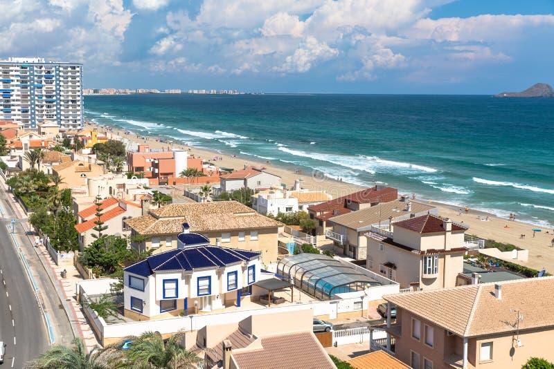 San Javier La Manga, Spanje - SEPTEMBER 2015: Stads hoogste mening stock afbeelding