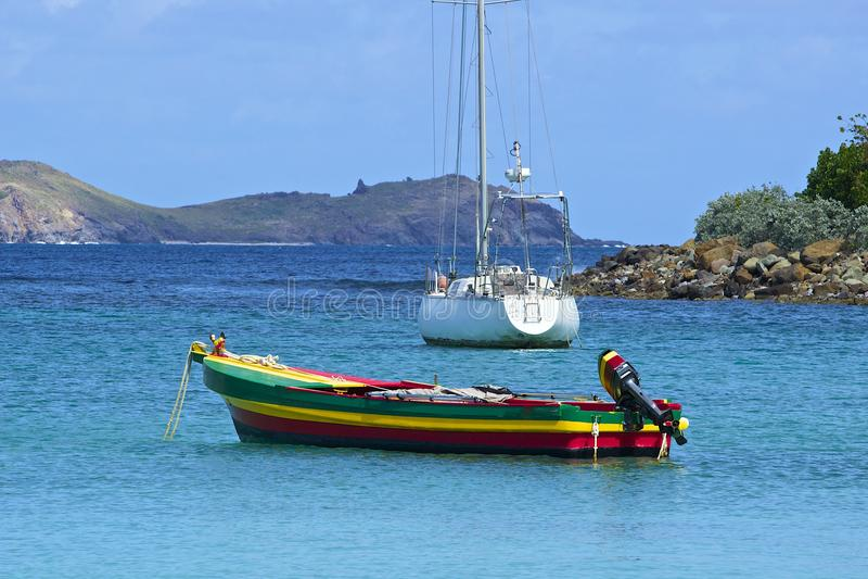 San Jean strand i St Barths som är karibisk royaltyfria bilder