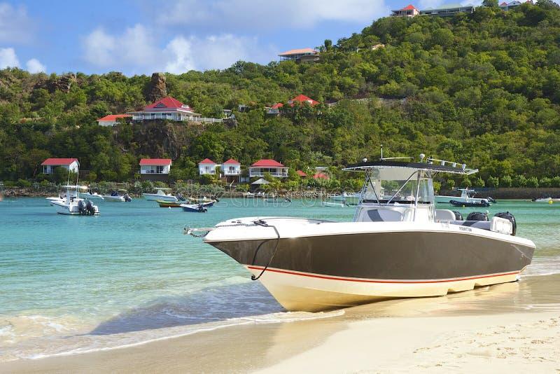 San Jean strand i St Barths som är karibisk fotografering för bildbyråer