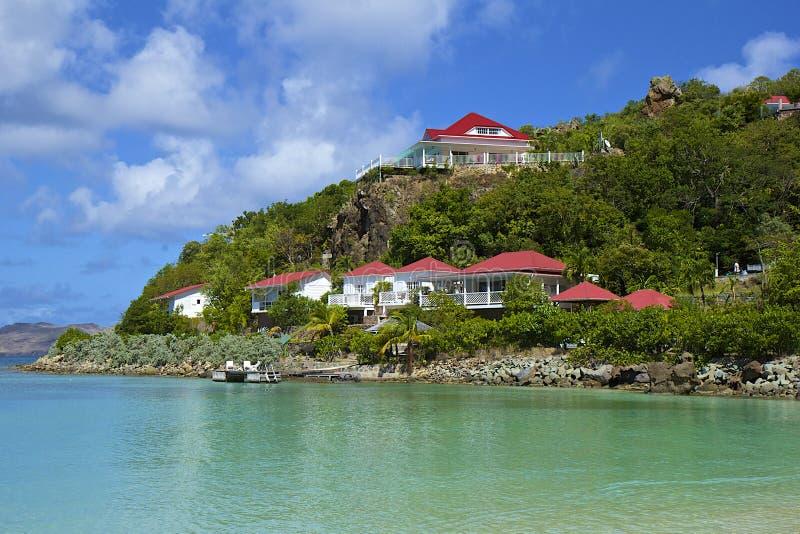 San Jean strand i St Barths som är karibisk royaltyfri foto