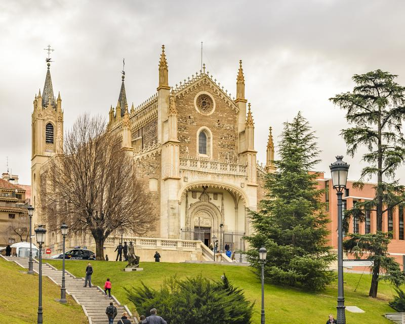 San Jeronimo El Real Church, Madrid, Spanien stockfotografie