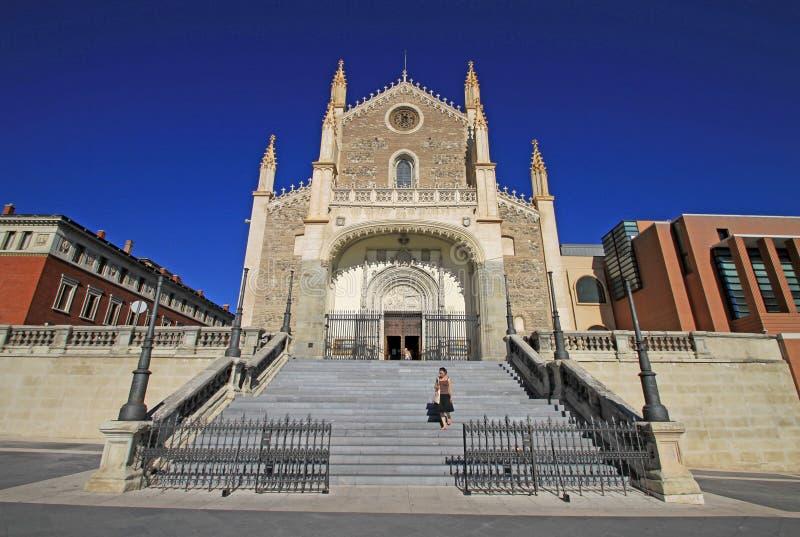 San Jeronimo el Real, das eine Römisch-katholische Kirche ist Madrid, Spanien stockfotografie