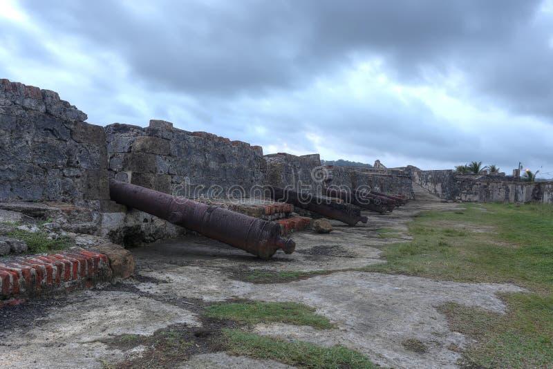 San Jeronimo Fort dans Portobelo, Panama images stock