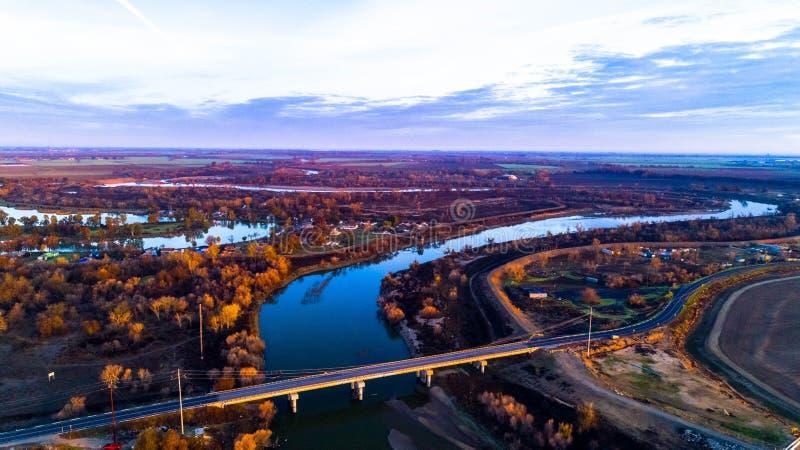 San Joaquin River royaltyfri foto