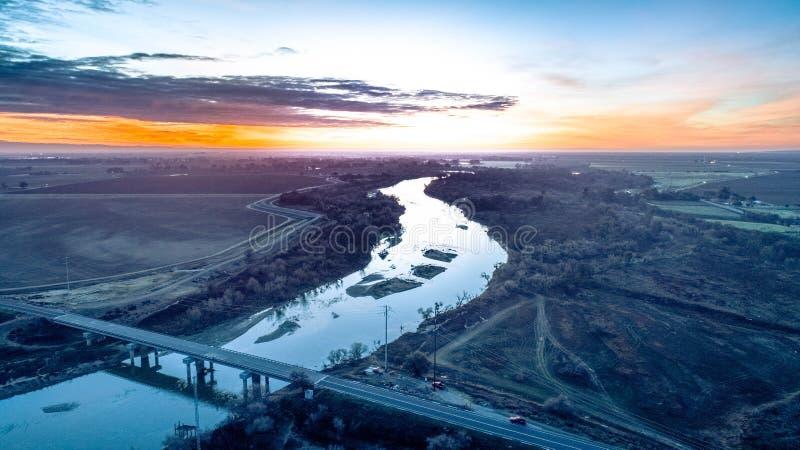 San Joaquin River royaltyfria bilder