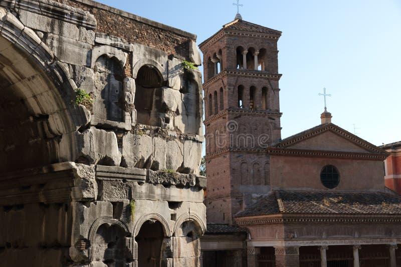 San Jorge en Velabro, Roma imágenes de archivo libres de regalías