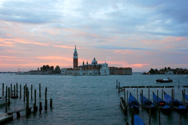 San Jorge Maggiore antes del amanecer foto de archivo