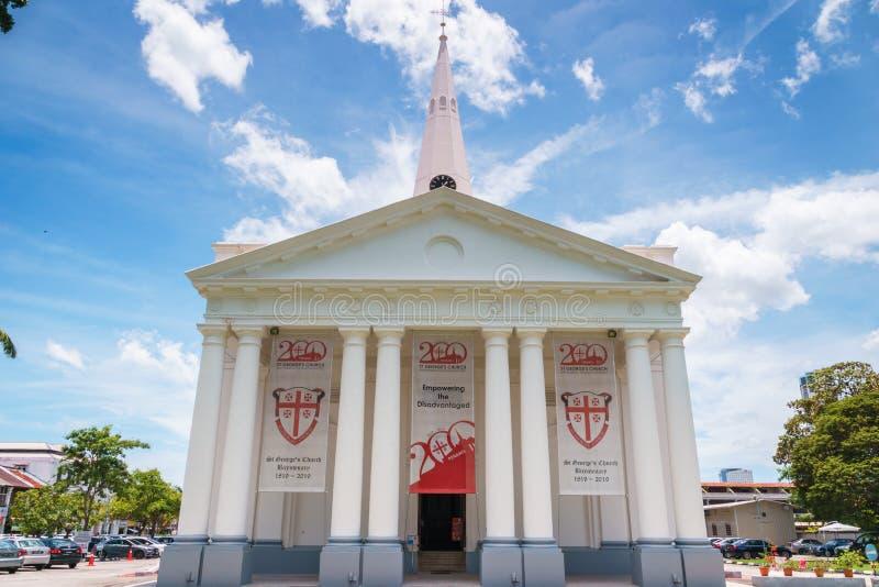 San Jorge y x27; iglesia de s en George Town, Penang, Malasia imagenes de archivo