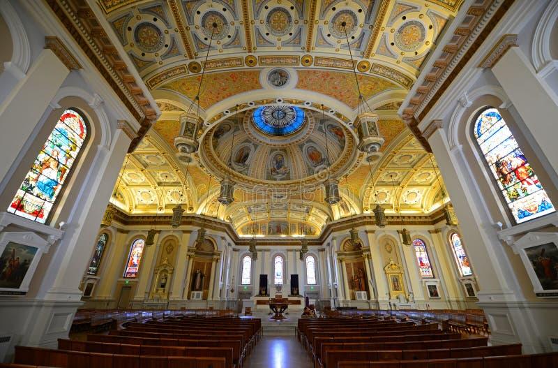 San Jose Cathedral Basilica, Califórnia, EUA fotografia de stock