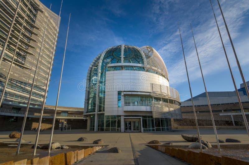 San Jose City Hall - San Jose, California, USA. SAN JOSE, USA - December 24, 2017: San Jose City Hall - San Jose, California, USA royalty free stock photo