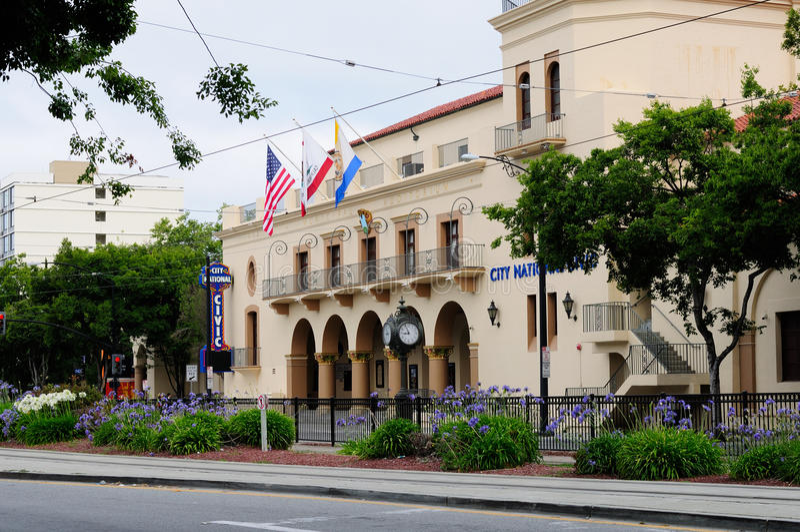 San Jose City National Civic Building lizenzfreie stockbilder