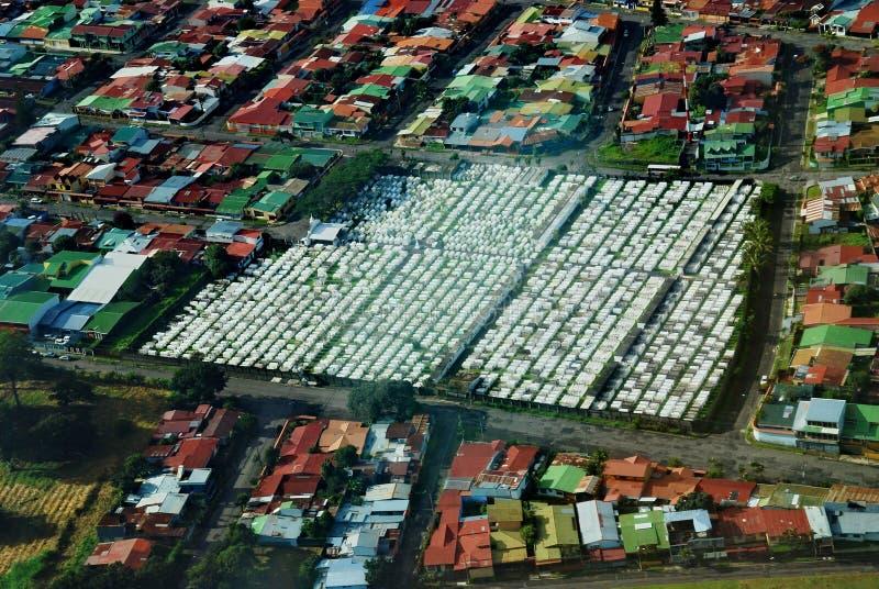 San Jose, Costa Rica Cemetery Aerial View fotografía de archivo