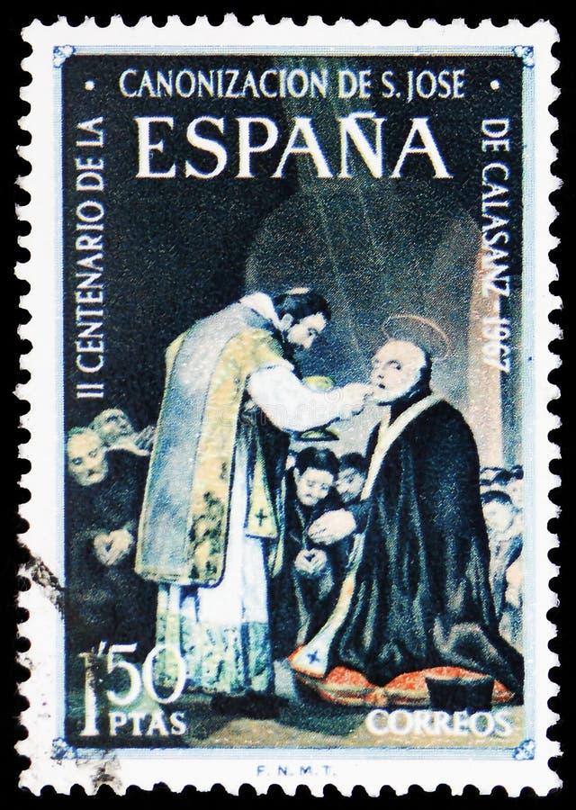 San Jose de Calasanz, serie de sainteté, vers 1967 images stock