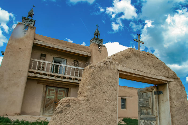San Jose de Gracia Church σε Las Trampas, Νέο Μεξικό στοκ εικόνα με δικαίωμα ελεύθερης χρήσης