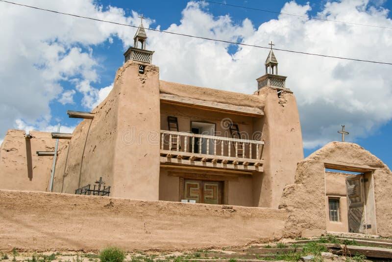San Jose de Gracia Church dans Las Trampas, Nouveau Mexique image libre de droits