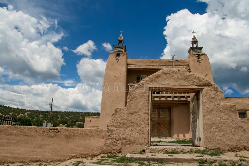 San Jose de Gracia Church i Las Trampas arkivbild