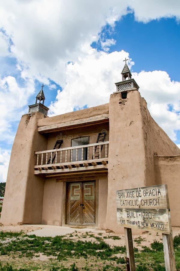San Jose de Gracia Church in Las Trampas, New Mexico stock foto's