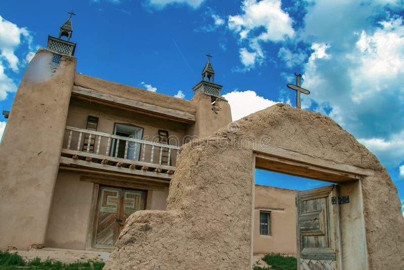 San Jose de Gracia Church in Las Trampas, New Mexico royalty-vrije stock afbeelding