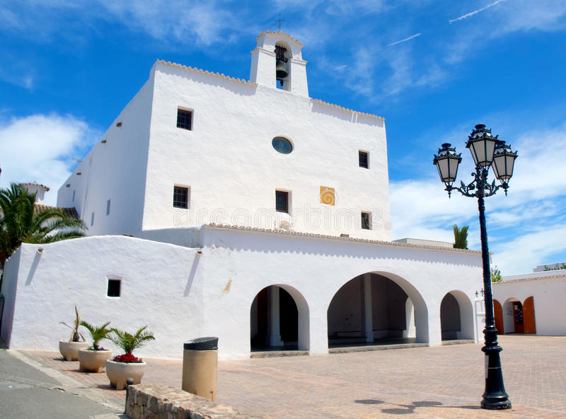 San Jose kyrka i Ibiza arkivbild