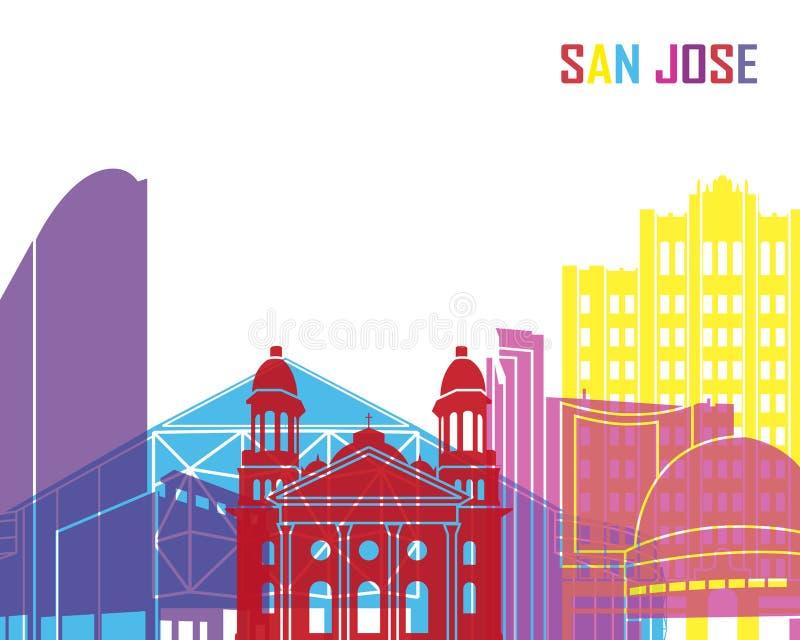 San Jose linii horyzontu wystrzał royalty ilustracja