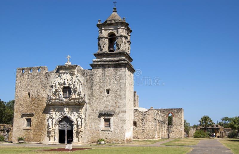 San Jose misi kościół, San Antonio, Teksas, usa zdjęcie stock