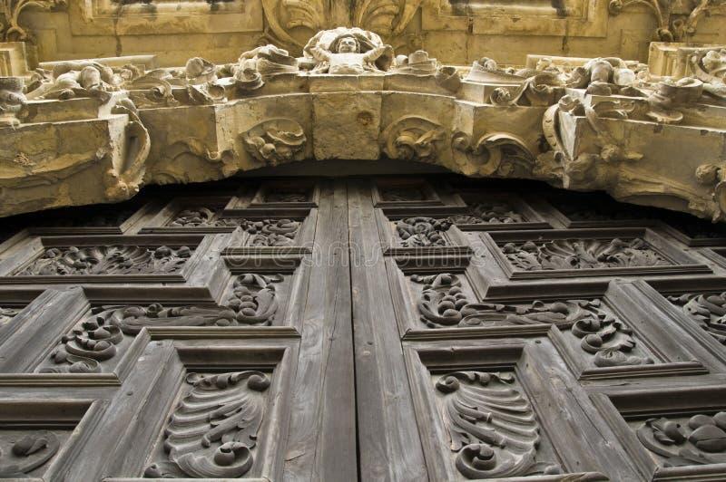 San Jose mission in San Antonio. A door at the San Jose mission in San Antonio stock images