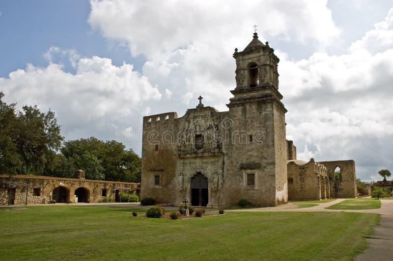 San Jose Mission, San Antonio, Texas. San Jose Mission, National Historic site, San Antonio, Texas, established in 1720 stock image