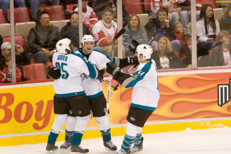 San Jose Sharks Celebrate stockbilder
