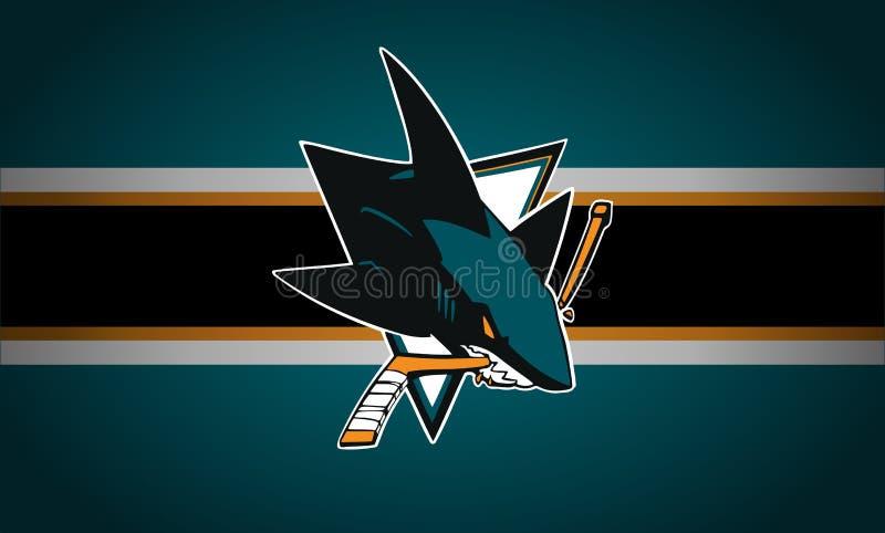San Jose Sharks Logo nhl royalty-vrije illustratie