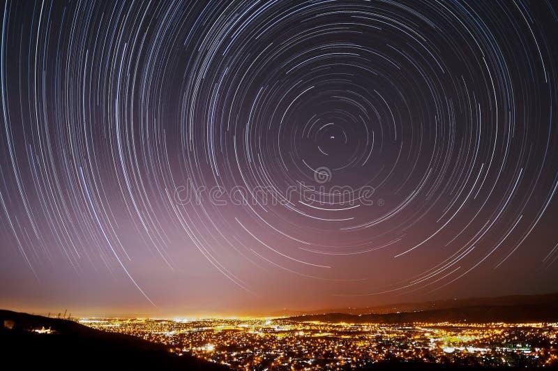 San Jose Star Trails royalty-vrije stock afbeeldingen