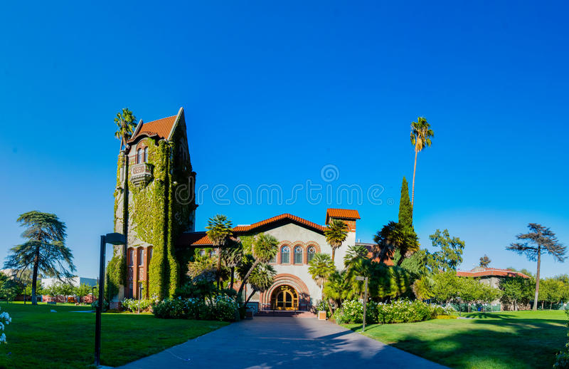 San Jose State University Tower Hall lizenzfreie stockfotos