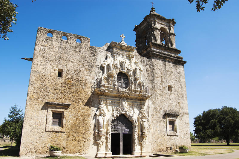 San- Joseauftragkirche, San Antonio, Texas, USA lizenzfreie stockfotos