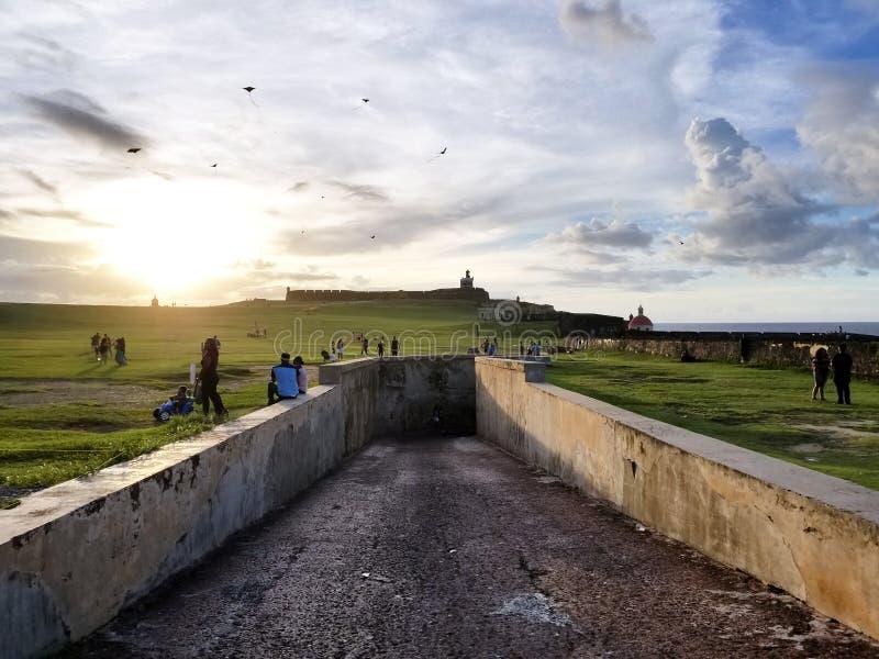 San Juan, ιστορικό οχυρό SAN Felipe Del Morro του Πουέρτο Ρίκο στοκ εικόνες