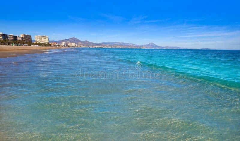 San Juan του playa Ισπανία παραλιών της Αλικάντε στοκ φωτογραφία