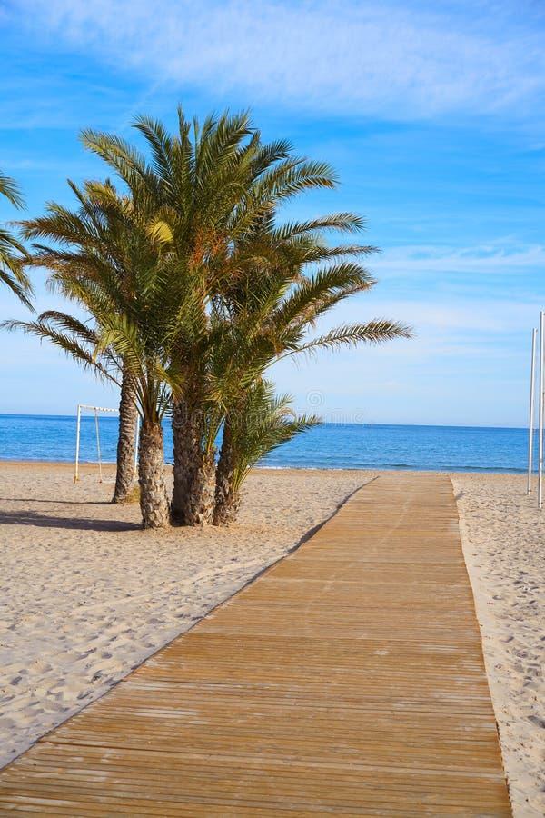 San Juan του playa Ισπανία παραλιών της Αλικάντε στοκ εικόνες