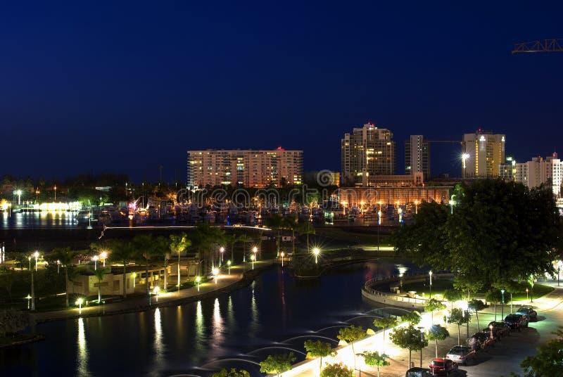 San juan. City, night landscape, puerto rico stock photo