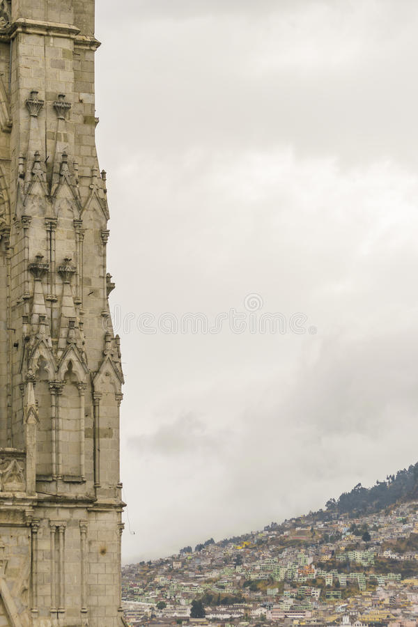 San Juan Basilica Quito Ecuador arkivbilder