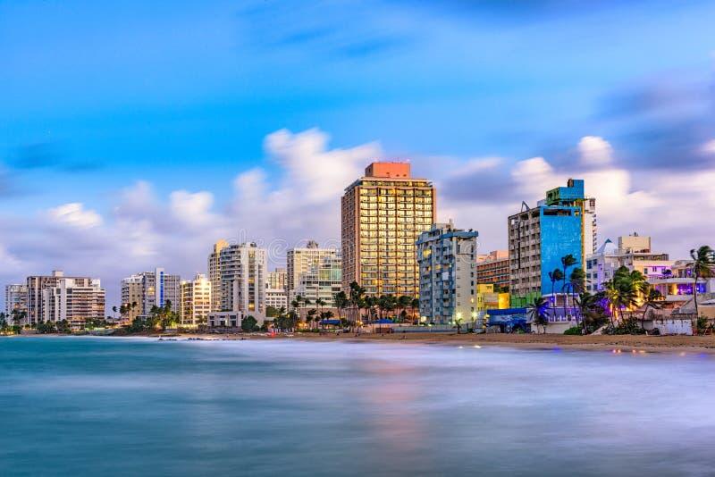 San Juan Beach Skyline royalty free stock photos