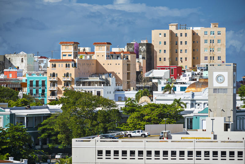 San Juan Buildings imagen de archivo
